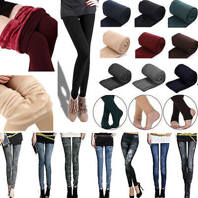 Women's Warm Fleece Lined Thick Thermal Stretchy Skinny Jeggings Leggings Pants
