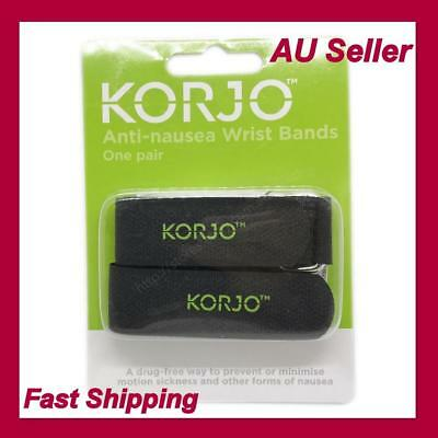 Korjo Anti Nausea Wristbands Travel Sick Bands Motion Sea Plane Car Sickness2pcs