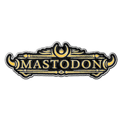 Mastodon Yellow Logo Metal Pin Button Badge Official Metal Band Merch