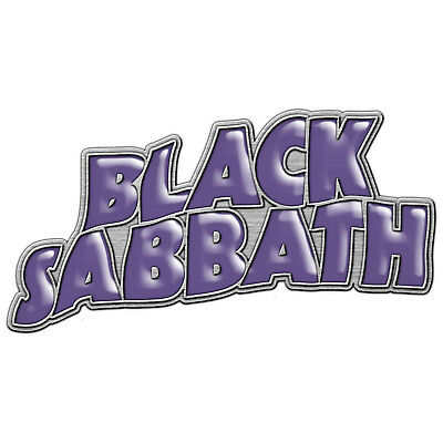Black Sabbath Purple Enamel Logo Metal Pin Button Badge Official