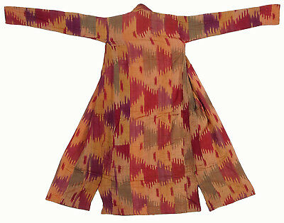 antike Usbekische Ikat Frauen Mantel  Antique women's silk coat chyrpy No:38
