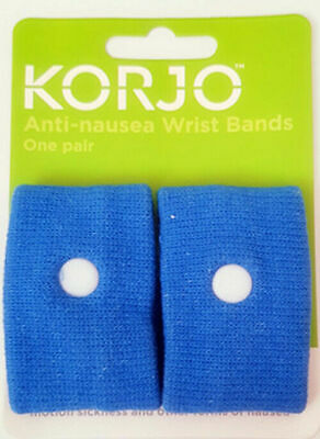 2 Anti Nausea Travel Sickness Band Korjo Motion Sea Plane Car Sick Wristband-2pk