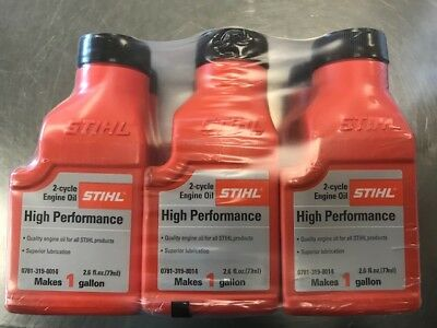 Stihl 2-Cycle Engine Oil 2.6 Ounce Bottles, Makes 1-Gal Mix  6-Pack