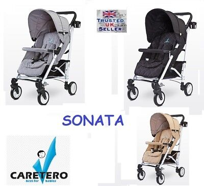 Caretero SONATA PUSHCHAIR BABY STROLLER BUGGY Next Day Delivery