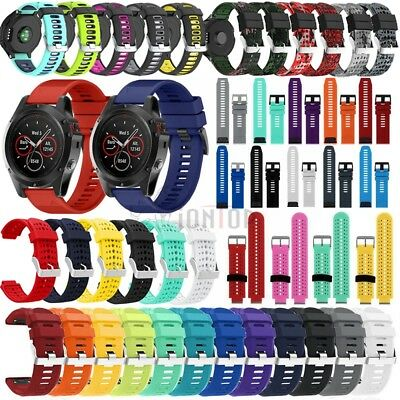 For Garmin Forerunner 735XT/Fenix 5X 5S Silicone Replacement Strap Watch Band