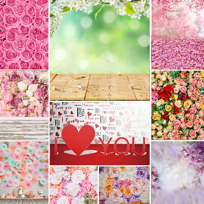 Flower Wall Floor Photography Backdrop Photo Studio Background Prop 6*9/10*10Ft