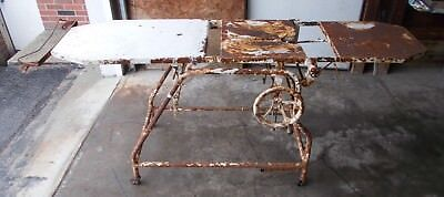 Antique Mortuary Table Adjustable Metal Medical Exam Table Vintage LOCAL PICK UP