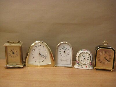 Job lot of 5 desk mantle clocks Minster Rhythm Coral Stager Azizoff