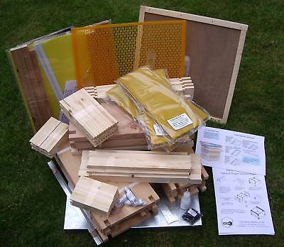 National Cedar Bee Hive Beehive, Complete,British Made , FLAT PACKED, Free P&P