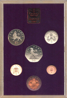 GB-UK 1980 Coinage of Great Britain & Northern Ireland Proof Set