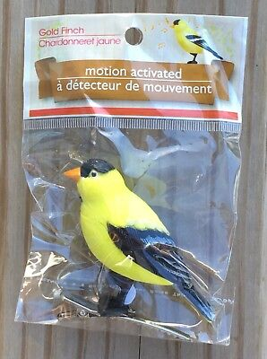 Motion Activated Bird Gold Finch Chirping Sounds New In Package