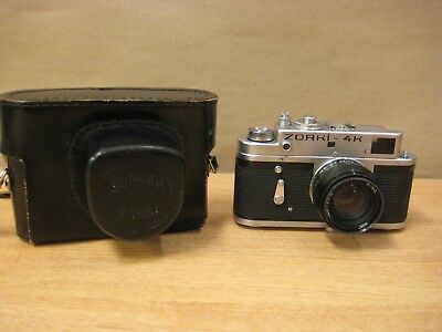Zorki 4K vintage rangefinder film camera with black case