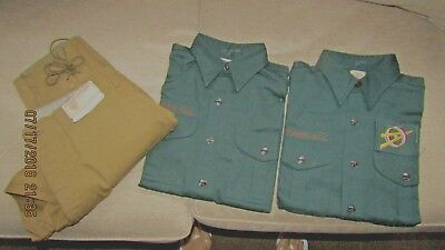 Boy Scout BSA  Vintage Uniform 1920's ?  Pants & 2 shirts Brand new with tags