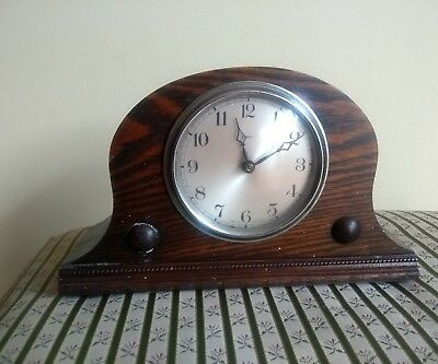 "A Small Vintage Mantel Clock By "" Smiths Enfield"" For Parts/ Not Working"