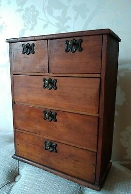Antique Miniature Chest Of Draws* With Sewing Items*