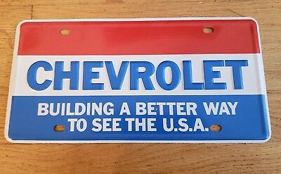 Vintage Original Chevrolet License Plate Building Better Way To See The USA