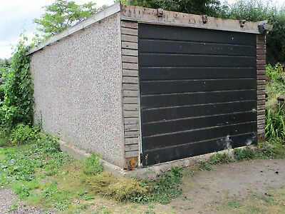 Grimston concrete sectional garage panels: Used
