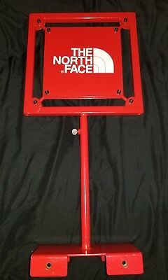 """EUC The North Face Metal Sign Advertising Display Store Dealer Mancave 17"""" x 8"""""""