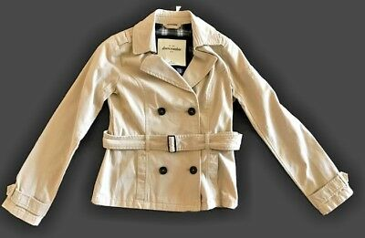 Abercrombie Kids Girls XL Khaki Belted Trench Coat Belted button front