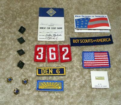 VINTAGE CUB SCOUT - Mixed Lot of Eighteen (18) Items of Cub Scout Memorabilia