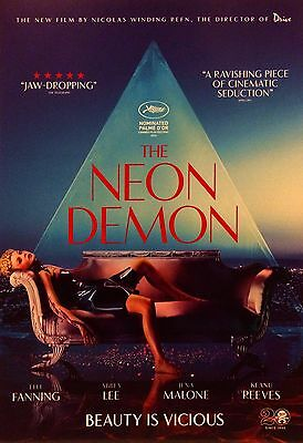 The Neon Demon A5 Poster (2016) - Ella Fanning, Nicholas Winding Refn