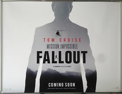 Cinema Poster: MISSION IMPOSSIBLE FALLOUT 2018 (Advance Quad) Tom Cruise