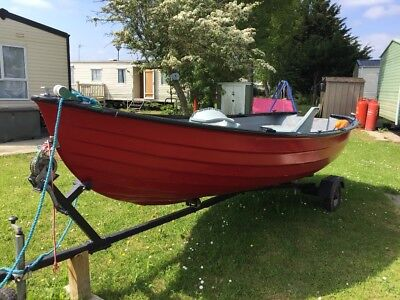fishing boat 16/18 feet wth outboard and trailor