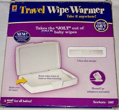Dex Travel Wipe Warmer Baby New Gift With Car Adapter