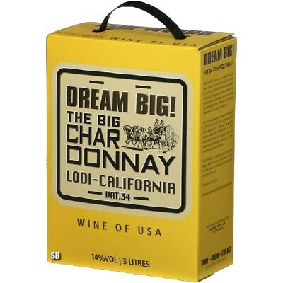 Dream Big The Big Chardonnay Lodi Californien 14% vol 300cl BiB
