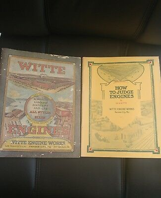 1923 Witte Engine Works Gas Engine Catalog & 1917 How to Judge Engines by Witte