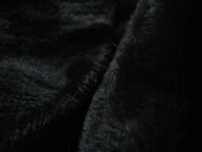 """#13 Mohair fabric for bear making black 27x36 inch 1/4 """" pile med desinty soft"""