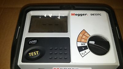 Megger DET3TC 3 Terminal Earth Ground Resistance Tester calibrated lot346 t1014