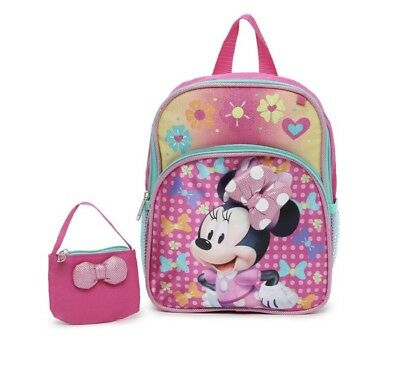 dd3d661392 Disney Minnie Mouse Girls Toddler Mini Bows Backpack Bookbag Purse Combo  Set 12""