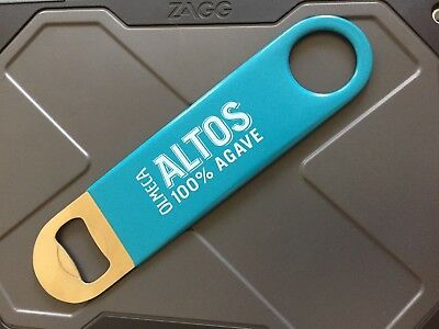 New Olmeca Altos Tequila Bottle Opener Speed Bar Blade Bartender Teal