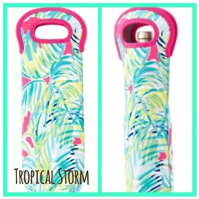 NEW Lilly Pulitzer Insulated Wine Sleeve Tote Koozie Cooler Tropical Storm $32