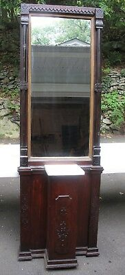 Victorian Pier Mirror Eastlake With Marble Shelf  Hall Stand Local Pickup Only