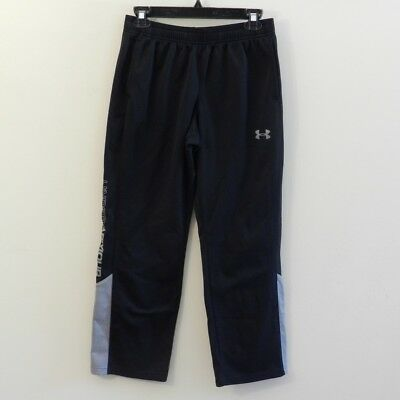 Under Armour Boys Youth Large All Season Gear Black Warm-Up Sweat Pants