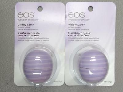 EOS Evolution of Smooth Visibly Soft Blackberry Nectar Lip Balm - (Lot of 2)