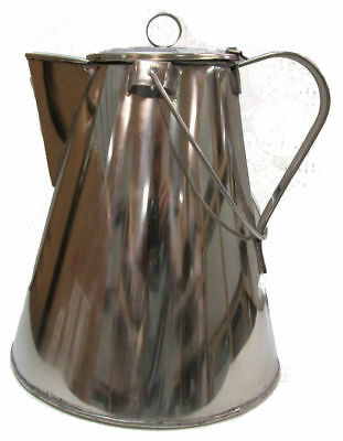 Reproduction Civil War Coffee Pot for Reenactments - STAINLESS STEEL - Large