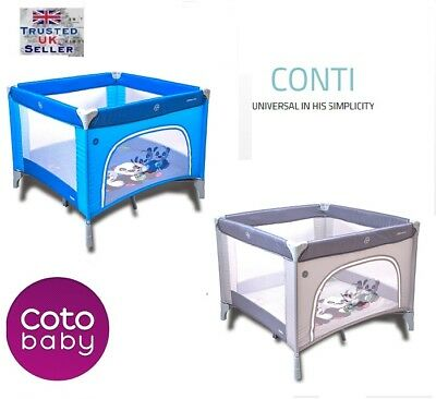 Cotobaby CONTI BABY PLAYPEN SQUARE TRAVEL COT  Next Day Delivery