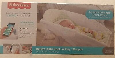 fisher price auto rock'n play sleeper with smart connect