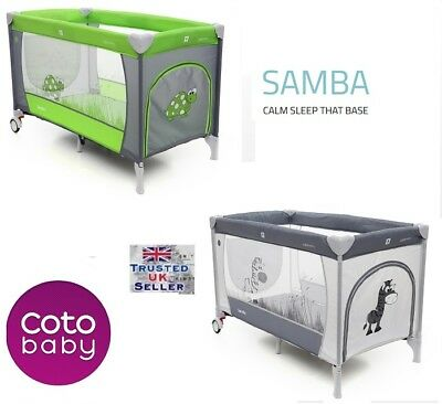 Cotobaby SAMBA TRAVEL COT BED Portable PLAYPEN entryway Next Day Delivery