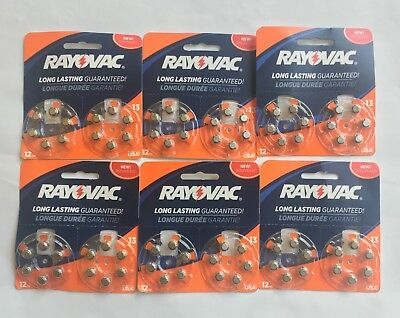 Rayovac Size 13 Hearing Aid Batteries 72 Batteries Exp 2021 or later
