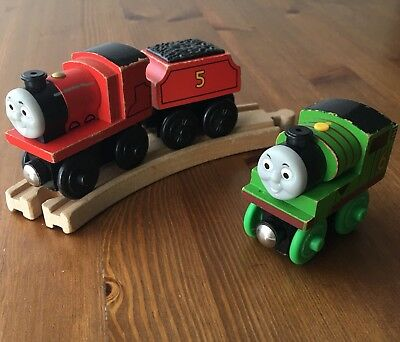 Thomas Train Wooden Railway Early Engineers Lot Percy James Tender Toddler 18mo