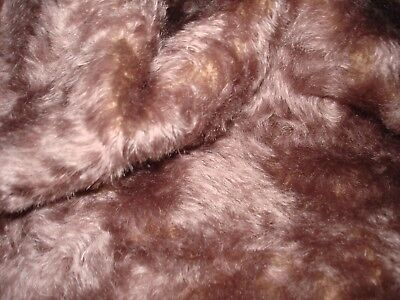 """#18 Mohair Teddy Bear size is 31"""" xx18"""" Distressed curly  Dusty Lavender"""