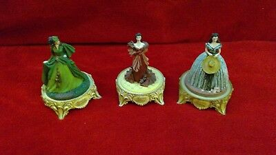 *Lot of 3* Franklin Mint Gone with the Wind figurines 1993