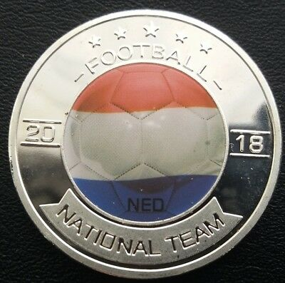 WORLD CUP RUSSIA (NED) NETHERLANDS Commemorative coin FREE COIN CAPSULE AND BRAN