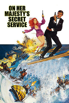 A4 On Her Majesty/'s Secret Service 3 Movie Poster Canvas Picture Art Print A0