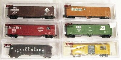 6 N Scale Assorted Freight Cars KD Couplers Trucks..........Scroll Down