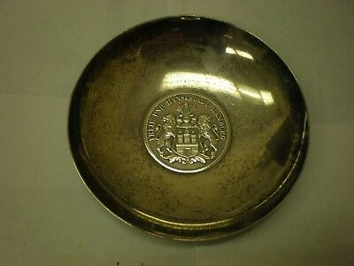 1913 Silver 5 Mark Hamburg Coin In 925 Sterling Silver Bowl